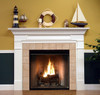 Mt Vernon fireplace mantel shown in semi gloss white.
