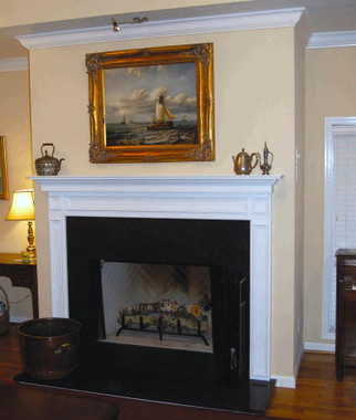 A satisfied customer sent in this photo of his beautiful mantel installation.  Thank you!