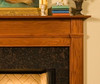 Detailed look at the Shippensburg mantel.