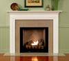 the Bravada Builder Collection fireplace mantel has offset molding on the legs.