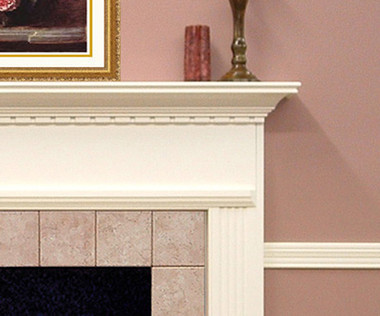 The Sterling mantel is part of the affordable Builder Collection.
