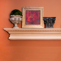 The Manorville fireplace mantel shelf