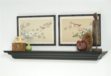 Highfield Fieplace Mantel Shelf shown in matte black.
