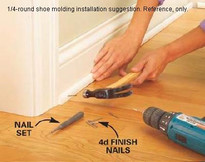 How to install shoe molding