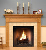 The Fredricksburg custom fireplace is show in one of the six wood type options available.