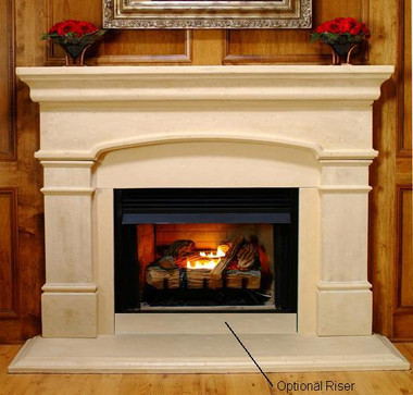 """""""Riser, only"""" typically for installations on the wall below a firebox.  May be puchased in bulk for facing ends and front of a raised hearth platform."""