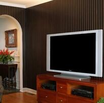 Black Hills dark beaded plywood paneling