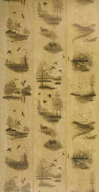 Natural Woods 4 x 8 Hunting Paneling featuring deer, ducks and other waterfowl