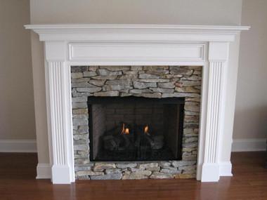 Leesburg wood fireplace mantel