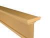 Top trim is raised up above the top of the shelf to provide a protective edge.