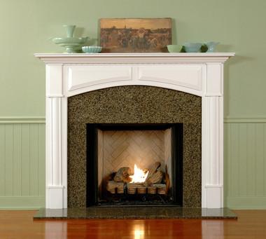wood fireplace mantel custom fireplace surrounds lexington rh mantelcraft com arched marble fireplace mantel
