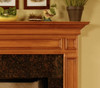 Picture frame molding make up the detail on the Savannah fireplace mantel.
