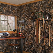 Genuine licensed Mossy Oak Camouflage wall paneling.  Plywood