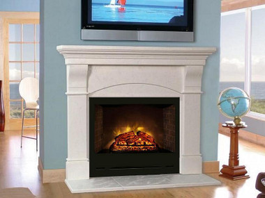 The Modern Flames HomeFire HF36 or HF42 are electric fireplaces that fit well in our Toscana