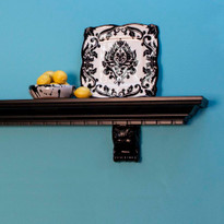 Ask us about the small B51 paintable corbel brackets shown in this image with the Catalina fireplace mantel shelf