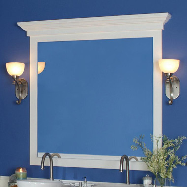 Marshall Cap shown atop the Bellmead Mirror Frame