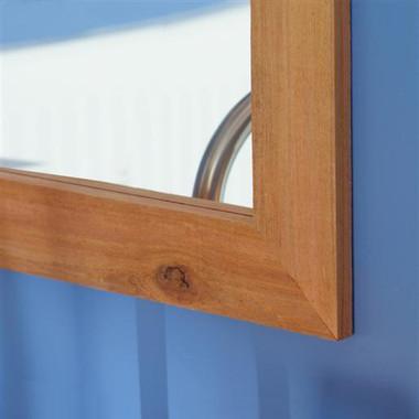 Cabin Mirror Frame   Western Red Cedar   Rustic Luxe Rough Finish