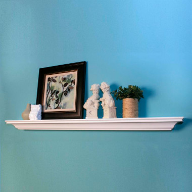 Clean lines are featured in the Cornell mantel shelf