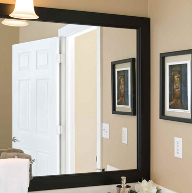 Grove Black Matte Mirror Frame