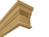 "Wooden cornice with 4 1/2"" return"
