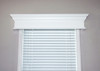 Pleasanton custom window cornice painted white