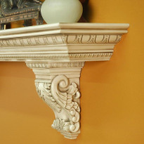 Beautiful solid wood corbels - Hazelnut Glaze
