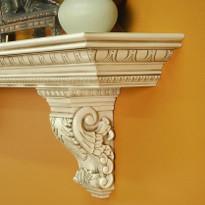 Beautiful solid wood corbels - Hazelnut Glaze