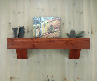 Lincoln Mantel Shelf in Cinnamon