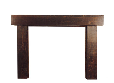 The Shenandoah rustic mantel is available in the Antique Brown finish.