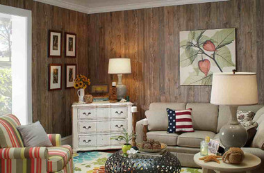 Weathered cedar wall paneling, in 4x8 sheets