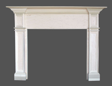 """Hartford Mantel can be special ordered with a straight breast by adding a note """"No arch"""" as you add to cart and/or check out!"""