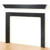 Contemporary surround with Modern fireplace mantel shelf