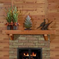 Western Red Cedar, a rustic mantel shelf