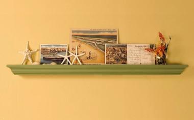 "A 72"" x 7 1/4"" Paintable Mantel Shelf"