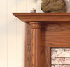 Beautiful wood fireplace mantel that will be sure to set your home apart from others.