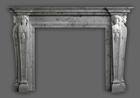 Museum quality!  The Renaissance marble mantel is a masterpiece
