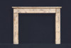 The Sophie marble fireplace mantel.