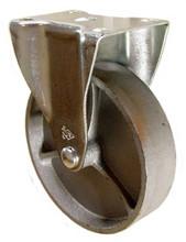 "5"" x 1-1/4"" Cast Iron Rigid Caster - 350 lbs Capacity (Q5250R01STL)"