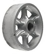 "6"" by 2"" Cast Iron Wheel - 1200 lbs Capacity"