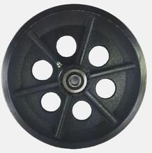 "V-Groove Cast Iron Wheel 8"" x 2"" - 1200 lbs capacity"