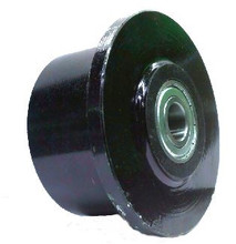 "4"" x 2-1/2"" Flanged Ductile Steel Wheel with Roller Bearing - 2500 lbs Capacity"
