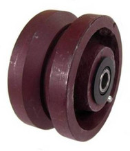 "V-Groove Cast Iron Wheel 4"" x 2"" with 1-3/16"" Plain Bore"