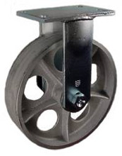 "10"" x 2-1/2"" Cast Iron Wheel Rigid Caster - 2000 lbs Capacity"