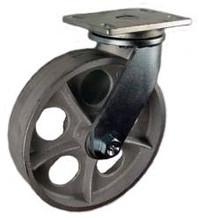 "10"" x 2-1/2"" Cast Iron Wheel Swivel Caster -2000 lbs Capacity"
