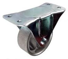 "3"" x 1-1/4"" Semi-Steel Rigid Caster - 250 lbs Capacity"