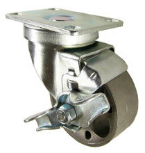 """3"""" steel caster with brake"""