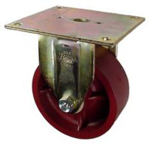 "5"" x 2"" Ductile Steel Rigid Caster - 1500 lbs Capacity"