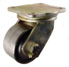 "6"" x 3"" Forged Steel Swivel Caster - 5000 lbs Capacity"