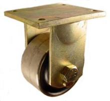 "6"" x 3"" Forged Steel Rigid Caster - 7200 lbs Capacity"