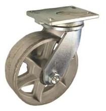 "8"" x 2-1/2"" Cast Iron Wheel Swivel Caster -1600 lbs Capacity"